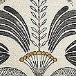 Structuurkussen met decoratieve palmprint, OCHRE, swatch