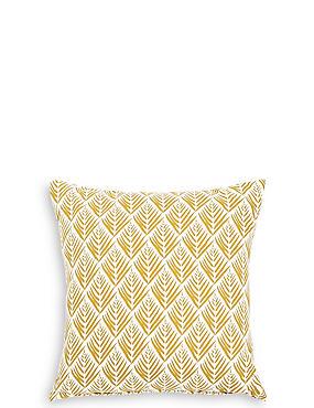 Willow Leaf Print Cushion