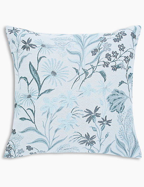 Sweeping Floral Jacquard Cushion