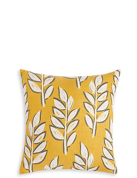Modern Leaf Print Cushion