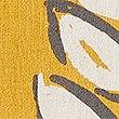Kussen met modern bladmotief, OCHRE, swatch
