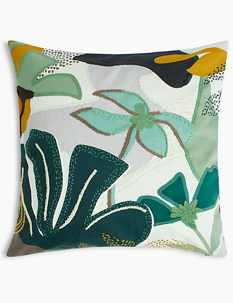 Eli Patchwork Embroidered Cushion
