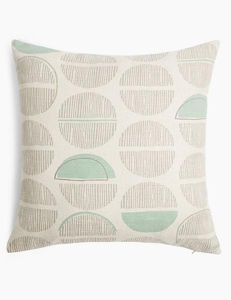 Circle Print Textured Cushion