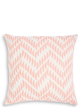 Oversized Crescent Chevron Cushion