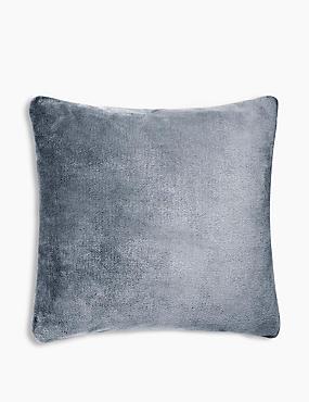 Fleece Cushion, CHARCOAL, catlanding