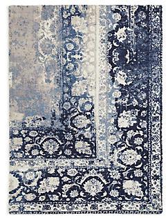 T47/2656: Vintage Corner Print Rug