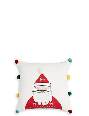 Mini Novelty Santa Cushion
