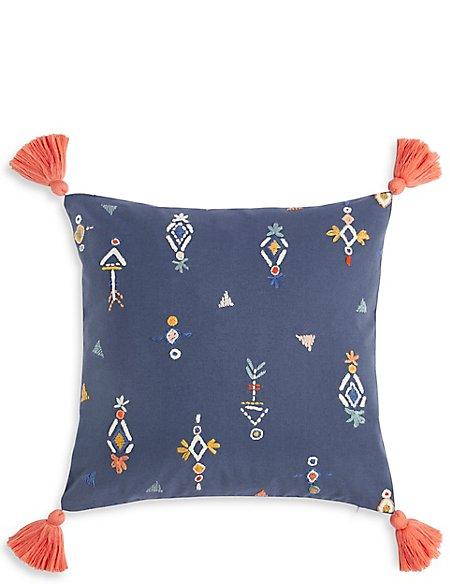 Aztec Embroidered Cushion
