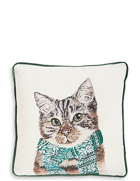 Printed Cat Cushion