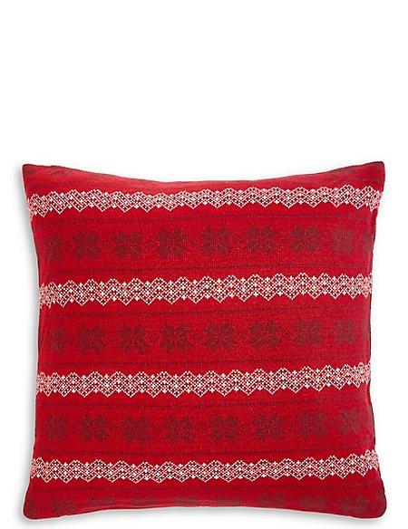 Fairisle Knitted Cushion