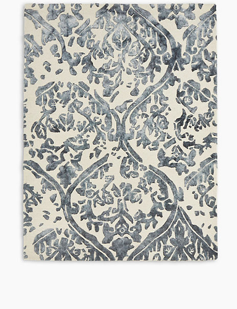 Watercolour Damask Rug
