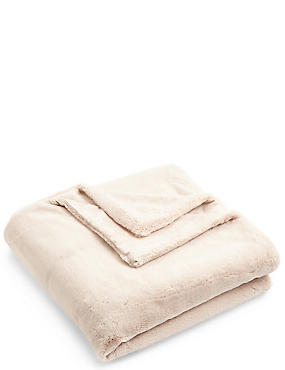 So Soft Faux Fur Small Throw