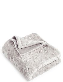 Textured Faux Fur Throw Small