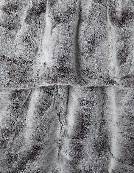 Faux Fur Throw Large