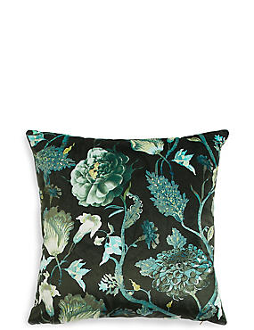Statement Floral Square Cushion
