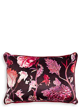 Velvet Statement Floral Envelope Cushion
