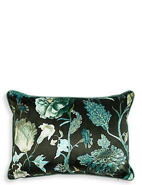 Velvet Statement Floral Envelope Cushion