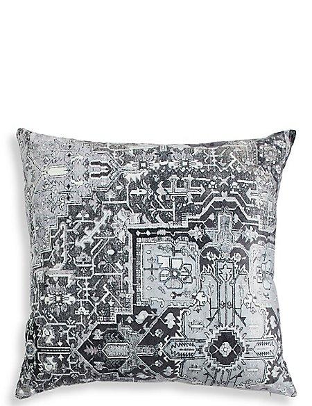 Velvet Kilim Motif Cushion