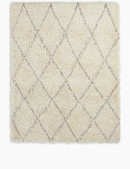 Diamond Shaggy Rug