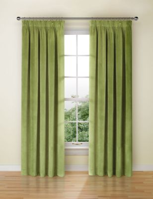 Velvet Pencil Pleat Curtains £89.00 - £149.00