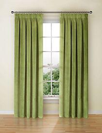 Velvet Pencil Pleat Curtains