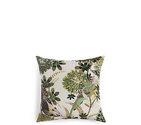 Velvet Embroidered Bird Cushion
