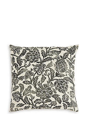 Watercolour Floral Linen Cushion