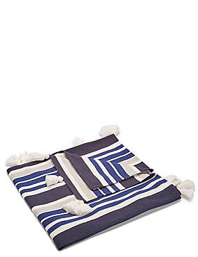 Nautical Striped Throw