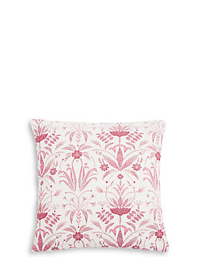 Floral Geo Chenille Cushion