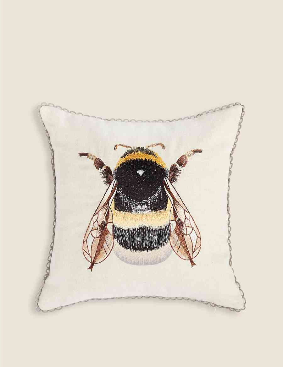 2ba63210b Bumblebee Embroidered Cushion