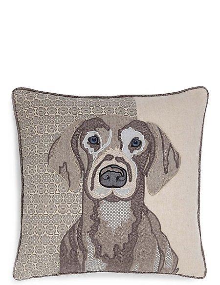 Applique Dog Print Cushion
