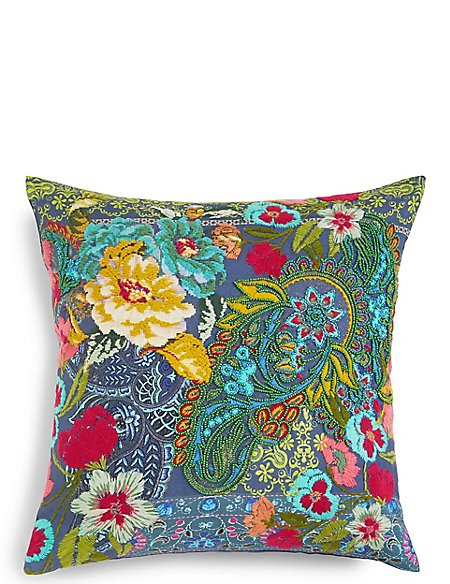 Paisley Embroidered Cushion