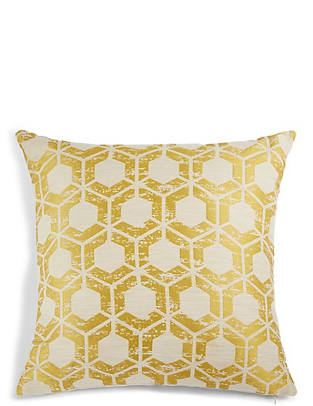Hexagonal Geometrical Print Cushion