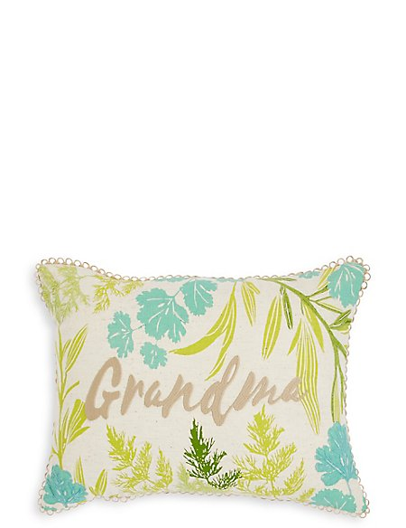 Botanical Grandma Cushion