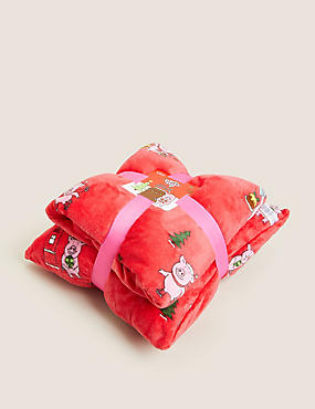 Percy Pig™ Cushion and Throw Bundle
