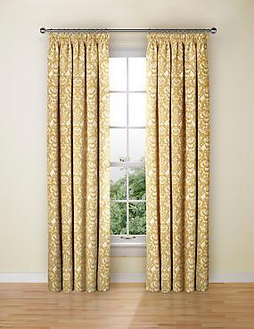 Floral Damask Jacquard Curtain