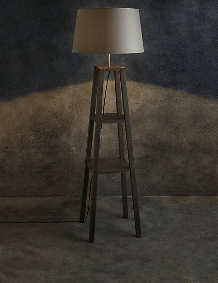 Theo grey wood shelves floor lamp ms theo grey wood shelves floor lamp aloadofball Choice Image