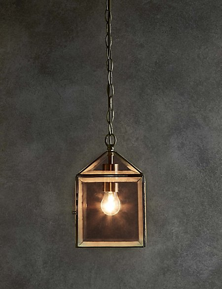 Glass House Lantern Ceiling Pendant