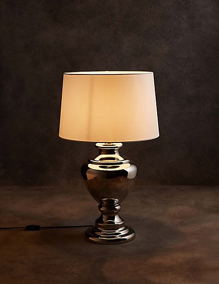 Mirrored Urn Table Light