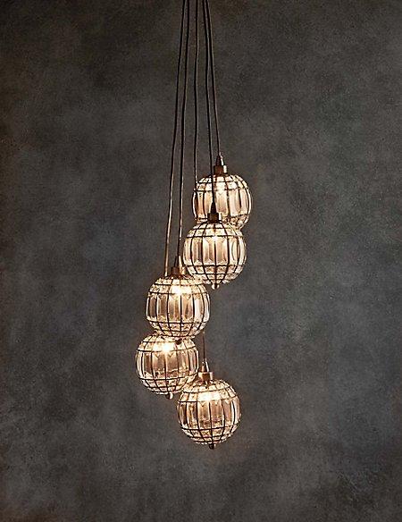 5 Gem Balls Cluster Ceiling Light