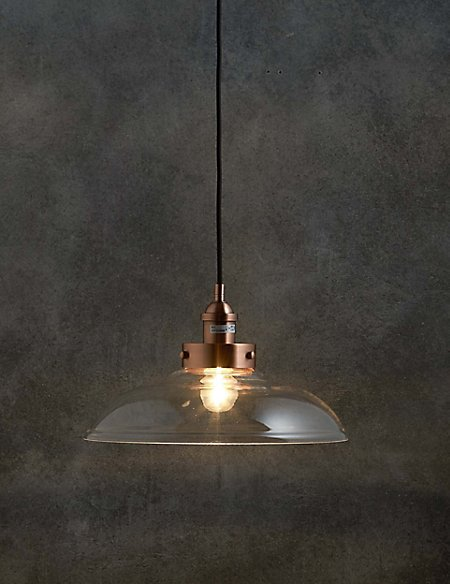 Rex Copper & Glass Shade Pendant