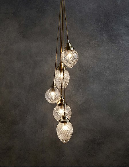 Rhianne Cut Glass 5lt Cluster