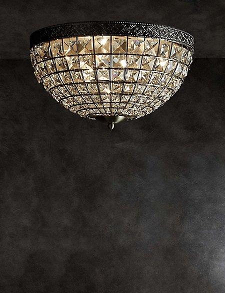Gem Ball Flush Ceiling Light