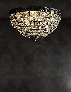 Gem Ball Flush Ceiling Light