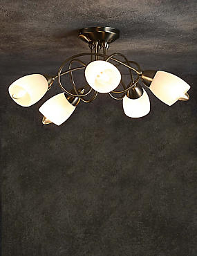 Andrea 5 Light Flush Lamp