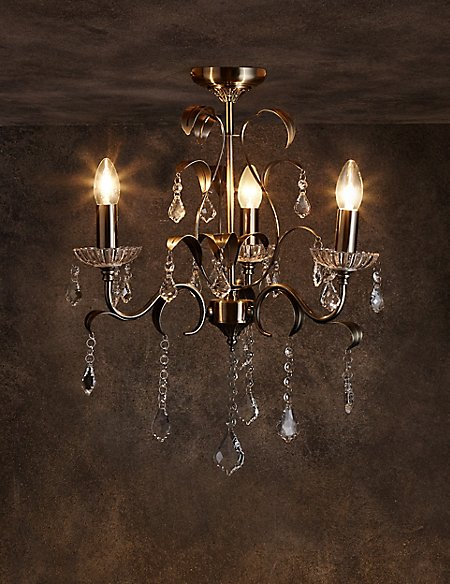 Flush Chandelier Faye 3 light flush chandelier ms faye 3 light flush chandelier audiocablefo