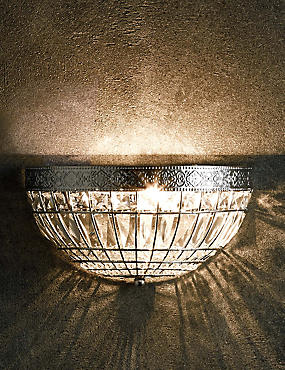 Gem Ball Flush Wall Light