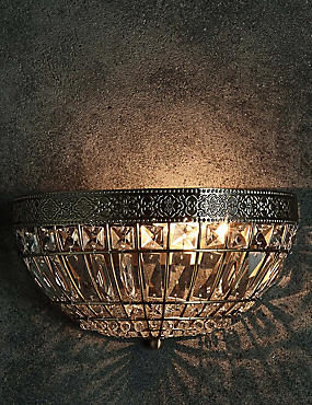 Gem Ball Flush Wall Light