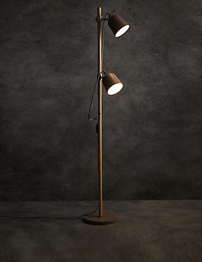 2 Head Adjustable Floor Lamp