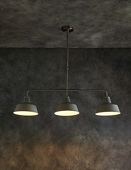 Toby 3 Light Diner Pendant